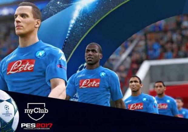 """VIDEO – PES 2017, con il Napoli c'è anche l'urlo """"The Champions!"""""""