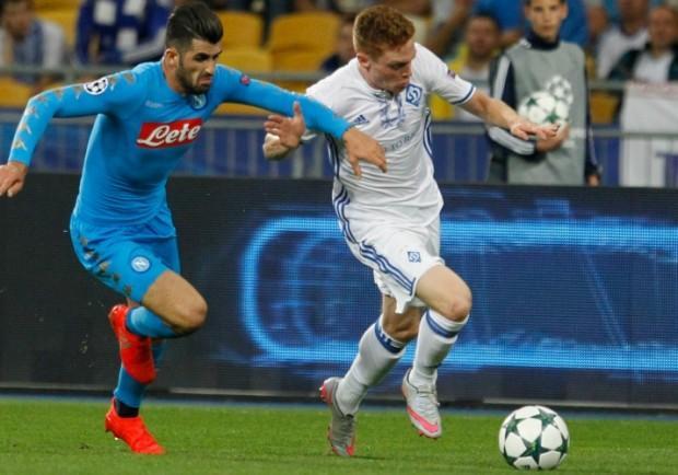 """Dinamo Kiev, Tsygankov: """"Napoli grande squadra, abbiamo creato tante occasioni ma senza risultato"""""""