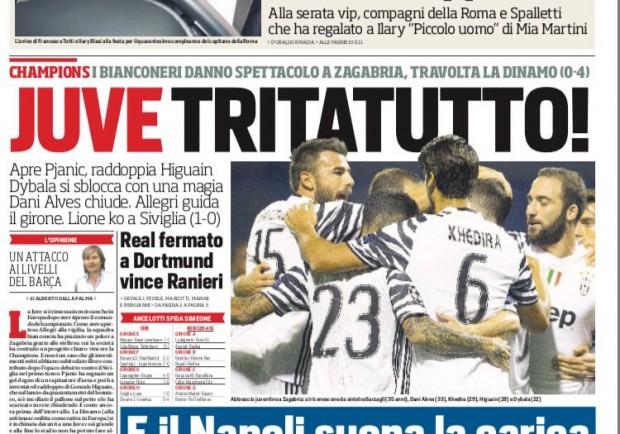 """FOTO – Corriere dello Sport in prima pagina: """"In 40mila per Napoli-Benfica"""""""