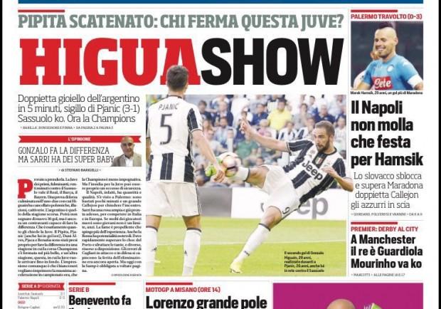 """FOTO – Corriere dello Sport in prima pagina: """"Napoli, che festa per Hamsik"""""""
