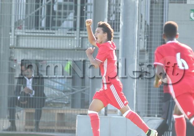 FOTOSEQUENZA – Youth League, Napoli-Benfica: ecco il vantaggio firmato da Sequeira