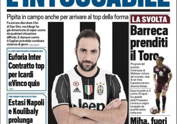 """FOTO – La prima pagina di Tuttosport: """"Estasi Napoli, Koulibaly rinnova fino al 2021"""""""
