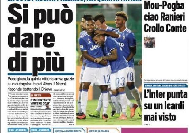 """FOTO – Tuttosport striglia la Juventus: """"Si può dare di più"""""""