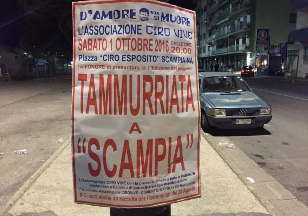 """FOTO – L'associazione 'Ciro Vive' presenta """"Tammurriata a Scampia"""""""