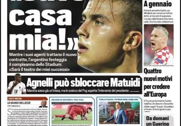 """FOTO – Tuttosport in apertura: """"Torino, che frecciate a Maksimovic"""""""