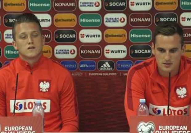 """Polonia, Zielinski e Milik in conferenza stampa: """"La nostra intesa migliora giorno dopo giorno"""""""