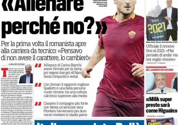 """FOTO – Corriere dello Sport, De Laurentiis: """"Milik super, presto sarà come Higuain"""""""