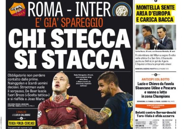 """FOTO – Gazzetta dello Sport: """"E' il club degli intoccabili il segreto di Sarri"""""""