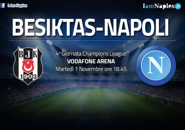 RILEGGI IL LIVE – Champions League, Besiktas-Napoli 1-1 (34'st Quaresma rig.-37'st Hamsik): l'orgoglio azzurro per agguantare il pari