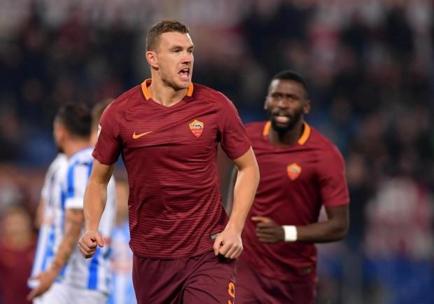"""Roma, Dzeko: """"Ho ancora due anni per portare lo Scudetto a Roma. Questo campionato è più equilibrato, ma la Juve è sempre favorita"""""""