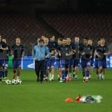 PHOTOGALLERY – La Dinamo Kiev si allena al San Paolo in vista del match di domani sera