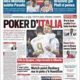 """FOTO – La prima del CorSport: """"Poker d'Italia, tutti nel primo tempo"""""""