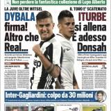 """FOTO – La prima pagina di Tuttosport: """"Altro che Real, Dybala rinnova"""""""