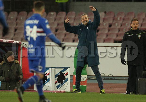"""Sampdoria, Giampaolo: """"Orgoglioso della nostra prestazione con il Napoli, gli azzurri sanno fare tre gol a tutti…"""""""