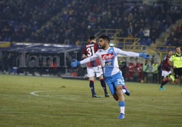 RILEGGI IL LIVE – Bologna-Napoli 1-7 (3′,69′,74'Hamsik,5'Insigne,32′,42′,89'Mertens, 35'Torosidis)