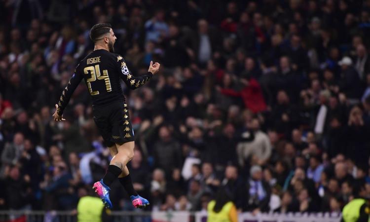 """VIDEO – Un anno fa Real Madrid-Napoli: il capolavoro di Insigne illude, poi il tris delle """"Merengues"""""""