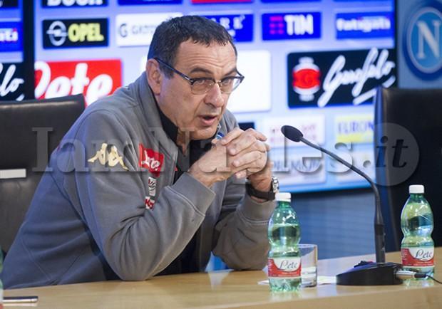 """RILEGGI IL LIVE – Sarri: """"Il terzo posto è un obiettivo intermedio, non guardiamo alla Roma. Abbiamo un sogno…"""""""