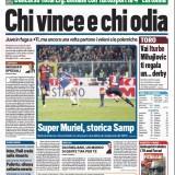 """FOTO – Tuttosport in prima pagina: """"Chi vince e chi odia"""""""