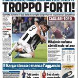 """FOTO – Tuttosport in prima: """"Il Napoli con la Lazio cerca certezze"""""""