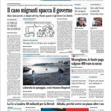 """FOTO – Il Mattino: """"Nuvole su Sarri, vi dirò il 31 Agosto se sono contento"""""""