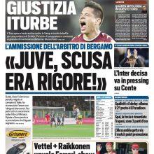 "FOTO – Tuttosport: ""Scusa Juve, era rigore"""
