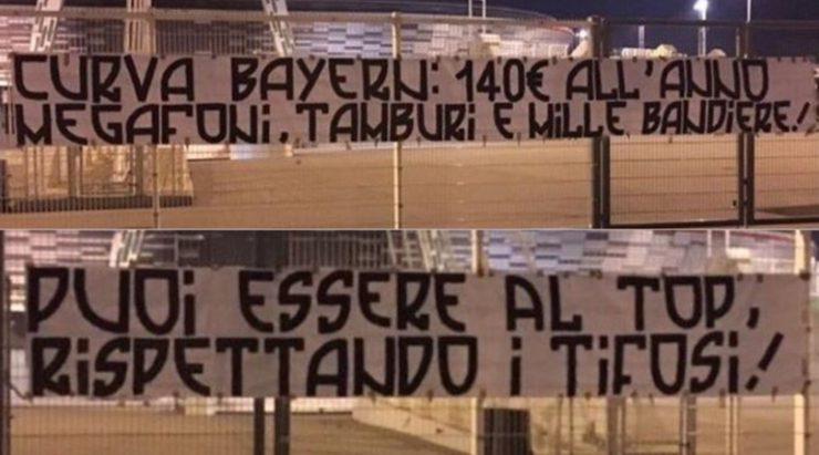 Afbeeldingsresultaat voor ultras juventus protestano per caro biglietti