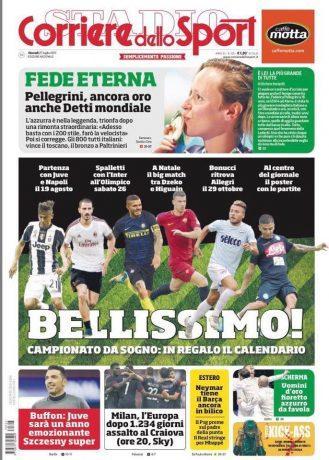 Corriere Dello Sport Calendario.Foto Prima Pagina Del Corriere Dello Sport Bellissimo