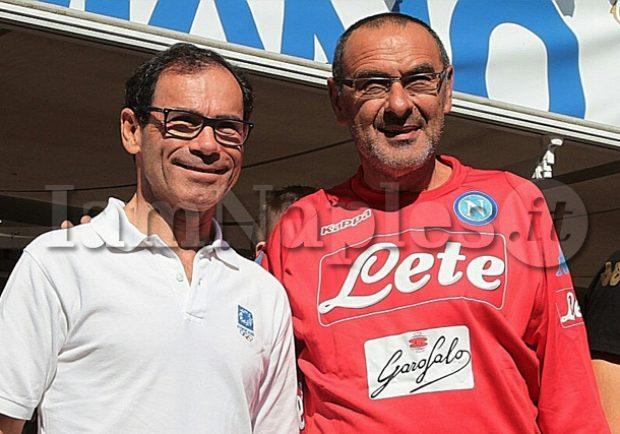 FOTO – Sarri incontra Cassani, ct della Nazionale Italiana di Ciclismo