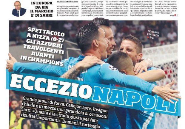 """FOTO – Il Corriere dello Sport: """"EccezioNapoli"""""""
