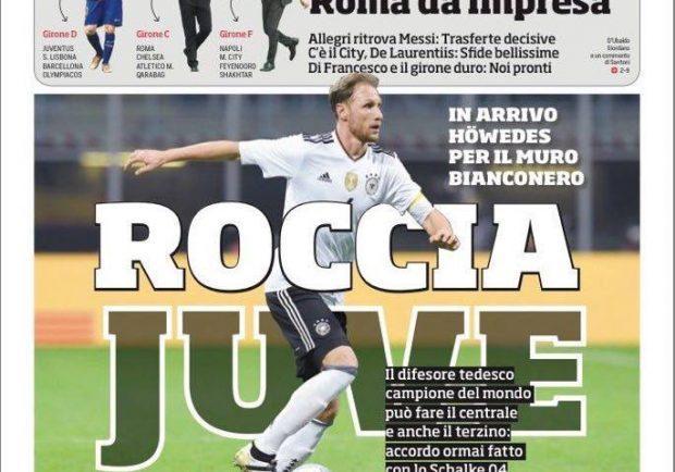 """Foto – Prima pagina del Corriere dello Sport: """"Champions, il Napoli ci crede"""""""