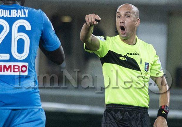 Napoli-Fiorentina, sarà Fabbri l'arbitro del match