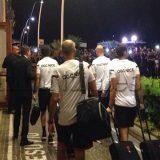 PHOTOGALLERY – Il Nizza torna all'Hotel Vesuvio dopo la rifinitura, tanti tifosi presenti