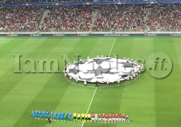 Il Mattino – Evitata la minaccia ultrà all'Allianz Riviera, la Uefa nega al Napoli di giocare con il lutto al braccio