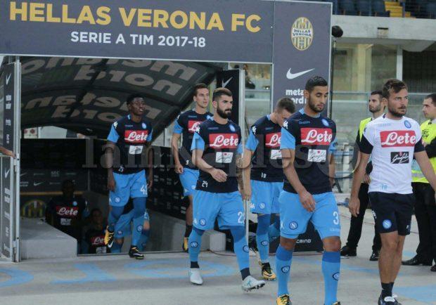 PHOTOGALLERY – Hellas Verona-Napoli, le immagini del riscaldamento pre partita