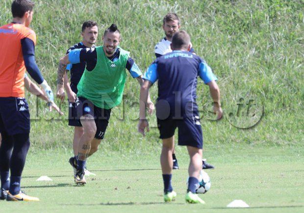 GRAFICO – Nizza-Napoli, Sarri con la formazione dell'andata, Mertens dovrebbe farcela. Favre con Balotelli e Sneijder