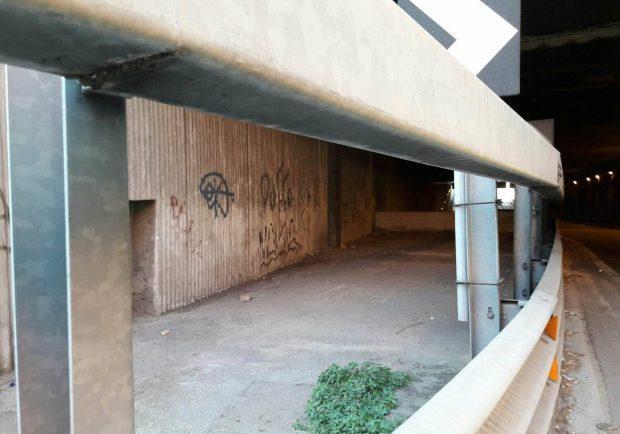FOTO – San Paolo, ripulito il sottopasso: era diventato una vera e propria discarica