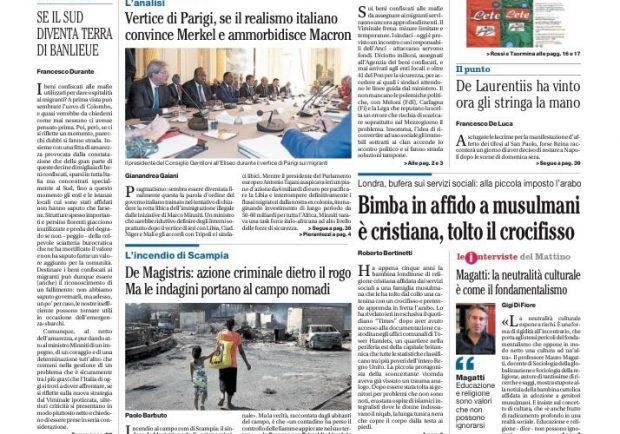 """FOTO – Il Mattino sul caso Reina: """"De Laurentiis ha vinto"""""""