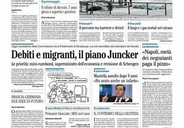 """FOTO – Il Mattino, Sarri: """"Non rinuncerò mai ad Hamsik"""""""