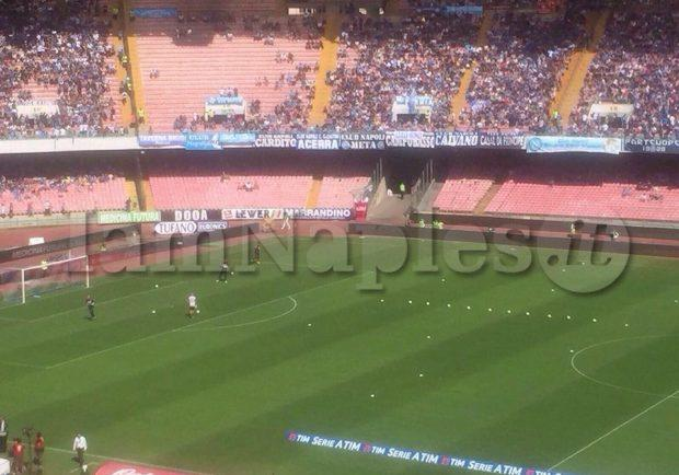 FOTO – Napoli-Benevento, riscaldamento per le due squadre