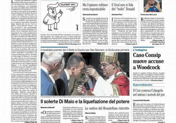 """FOTO – Il Mattino: """"Napoli, è la notte della verità per essere grande"""""""