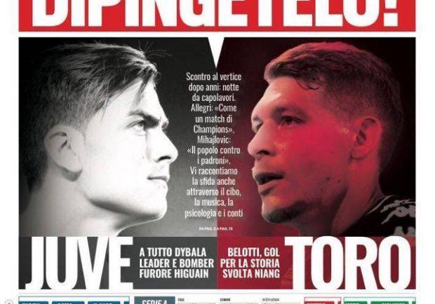 """Foto – Tuttosport in prima pagina: """"Napoli: con al Spal per tentare l'allungo"""""""