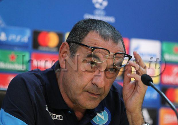 """Sarri in conferenza stampa: """"Erano già quattro partite che Hamsik giocava ad alti livelli"""""""