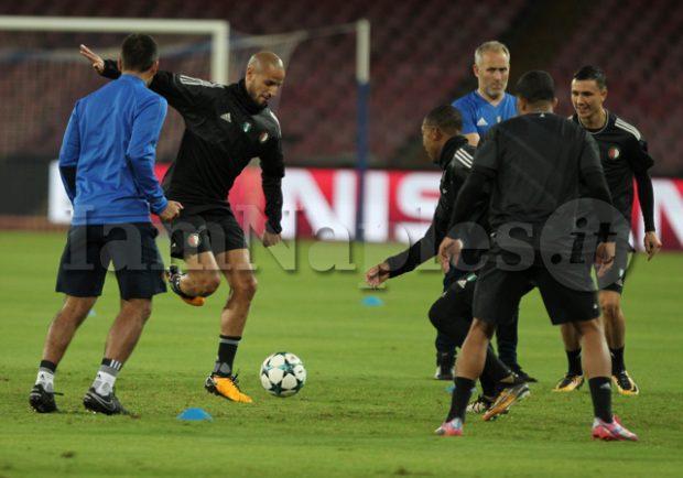 PHOTOGALLERY – Seduta di allenamento al San Paolo per il Feyenoord: gli scatti di IamNaples.it