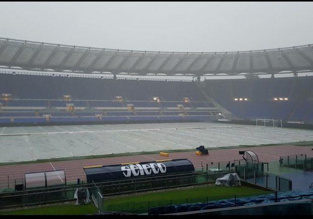Nubifragio su Roma, sempre più a rischio anche di Lazio-Milan
