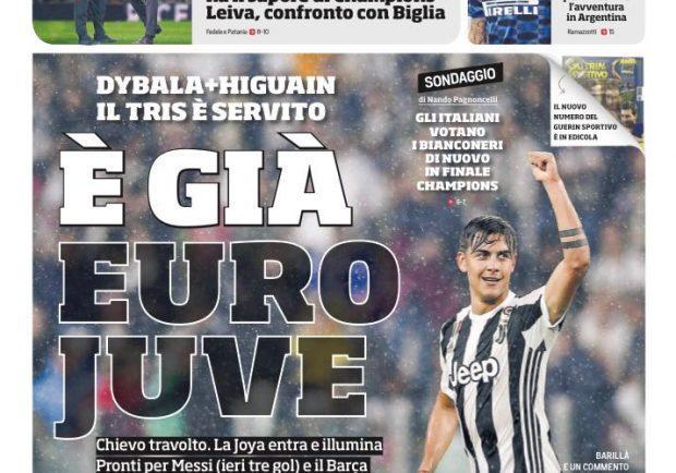 "FOTO – L'apertura del CorSport: ""É giá Euro-Juve"""