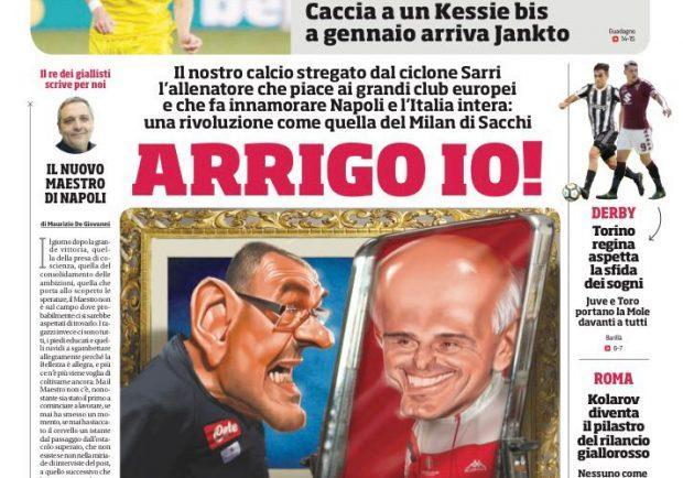 "FOTO – La prima del CorSport con Sarri: ""Arrigo Io!"""