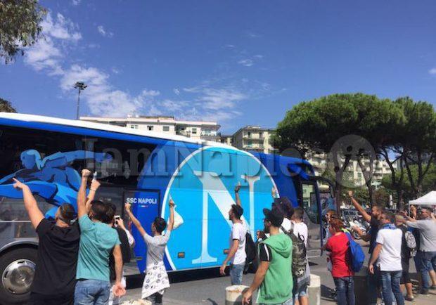 FOTO – Napoli, ecco l'arrivo degli azzurri al San Paolo