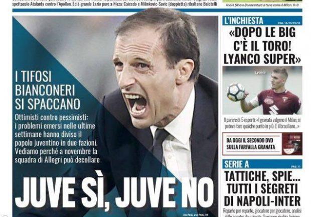 """FOTO – Prima pagina di Tuttosport: """"Tutti i segreti di Napoli-Inter…"""""""