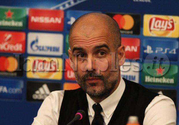 """Napoli, senti Guardiola: """"Vinciamo per rispetto degli azzurri, vogliamo onorare la Champions"""""""
