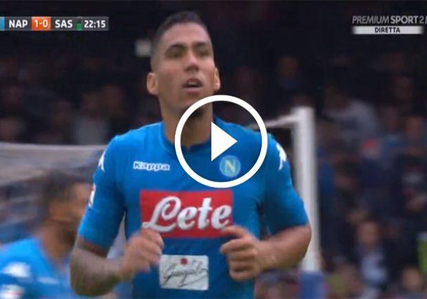 VIDEO – Napoli-Sassuolo 1-0, la sblocca Allan!